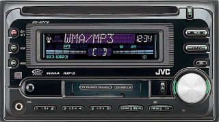 JVC KW XC410 Double DIN CD/ Cassette Receiver