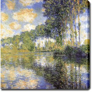 Claude Monet Poplars on the Epte Oil on Canvas Art