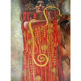 Gustav Klimt Hygieia (Detail From Medicine) Canvas Art
