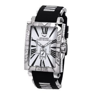 Aquaswiss 63G012 Anchor Mans Rectangular Curved Watch Stainless Steel