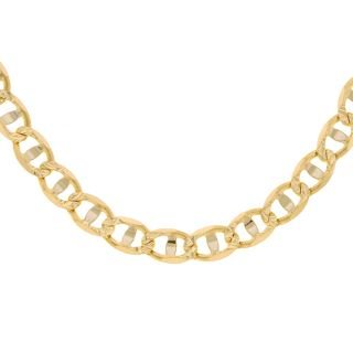 14k Gold 22 inch DC Pave Marina Necklace