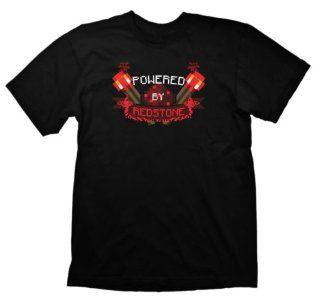 Minecraft T Shirt Powered by Redstone, Größe L: Games