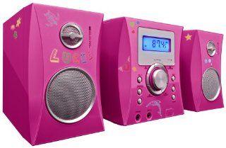Bigben MCD04 Stereo Music Center CD Player pink Elektronik