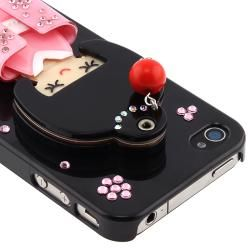 Black Kimono Girl Mirror Snap on Case for Apple iPhone 4/ 4S