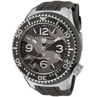 Swiss Legend Mens Neptune Grey Silicone Watch