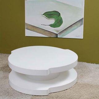 Saturn High gloss White Coffee Table
