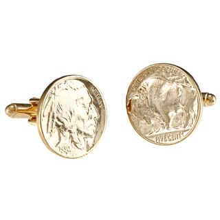 American Coin Treasures Gold Layered Buffalo Nickel Cufflinks
