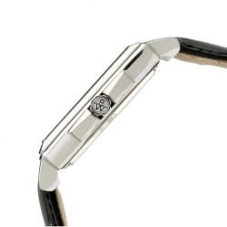 Raymond Weil Mens Black Leather Strap Watch