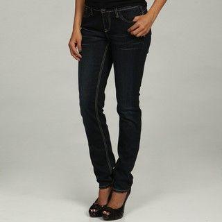 Elizabeth Grace Womens Wishbone Shimmer Skinny Jeans