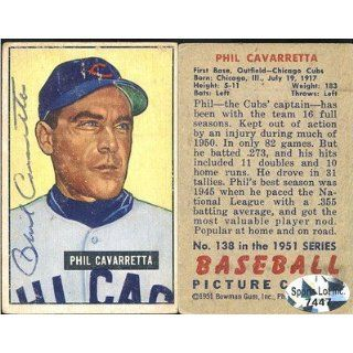 Cubs Autographed 1951 Bowman Trading Card # 138 SL COA Collectibles