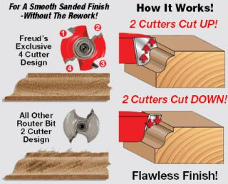 Freud 34 138 Quadra  Cut 1 3/8 Inch Radius Rounding Over Router Bit