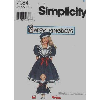 Simplicity 7084 Daisy Kingdom Girls, Doll Dress Pattern 7