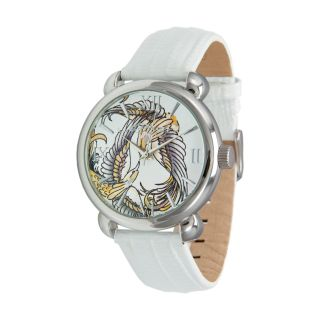 Ed Hardy Womens Flora White Watch