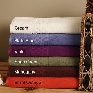 High/ Low Dot 6 piece Bath Sheet Set
