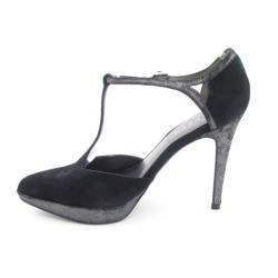 Lauren Ralph Lauren Womens Black Dacia T strap Platform Heels