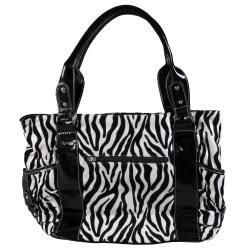 Journee Collection Womens Double Handle Zebra Print Tote