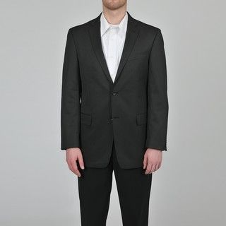 Marc Ecko Mens Trim Fit Black Pindot Suit Jacket