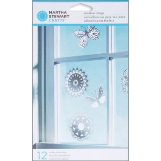 Martha Stewart Doily Lace Window Clings (Pack of 12)