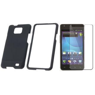 Black Case/ Screen Protector for Samsung Galaxy S2 Attain i777 AT&T