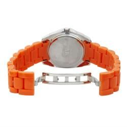 Anne Klein Orange Resin With Crystal Accents Watch