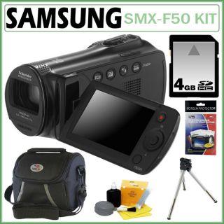 Samsung SMX F50 Black Digital Camcorder with 4GB Kit