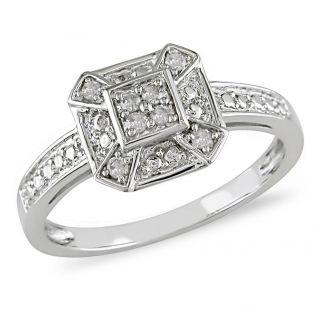 Sterling Silver 3/4ct TDW White Diamond Ring