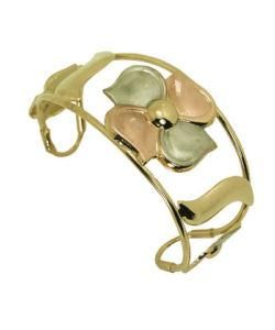14k Goldfill Wide Flower Cuff Bangle Bracelet (Mexico) Today $43.39 4