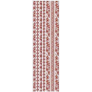 Joy!Crafts Samt/Spitze Bordüren selbstklebend 1113, Rot