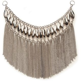 Styled by Tori Spelling (TM) Bib Style Necklace Bottom Silver 1/Pkg