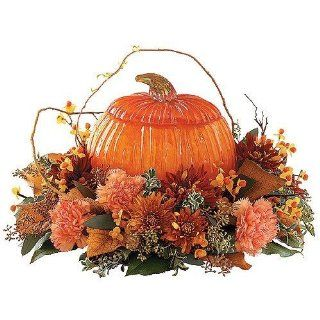 Teleflora TF143 Art Glass Pumpkin Container Everything
