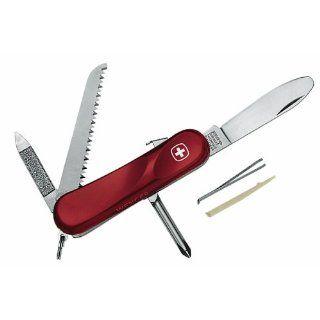 Wenger Kindermesser, Modell Junior 09, 6 teilig, Klingensperre, rot
