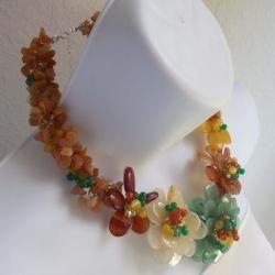 Multicolor Flower Garland Necklace (Thailand)