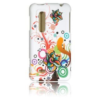 Luxmo Autumn Flower Rubber Coated Case for LG Thrill 4G