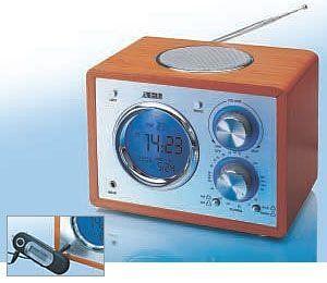 AEG MR 4104 Desgin Uhrenradio Line In buche/weiss