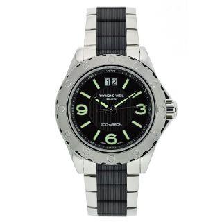 Raymond Weil Mens Sport Stainless Steel Black Dial Watch