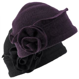 Journee Collection Womens Rosette Accent Wool Beanie