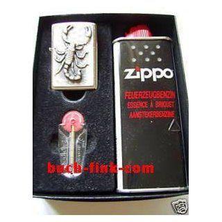 Zippo Feuerzeug Skorpion Geschenk Set Garten