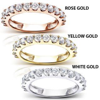 14k Gold 1ct TDW Diamond Semi eternity Wedding Band (G H, I1 I2) Today
