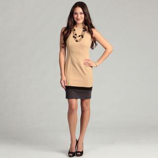 Calvin Klein Womens Colorblock Sleeveless Dress