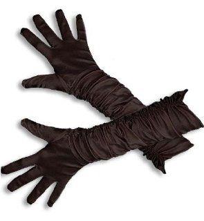 Damen Handschuhe Damenhandschuhe schwarz ca 38cm lang