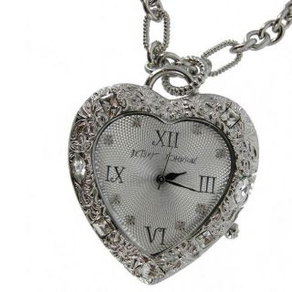 Betsey Johnson Womens Heart Pendant Watch