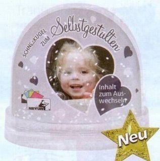 Deko Foto   Schneekugel zum Selbstgestalten mit Glitter