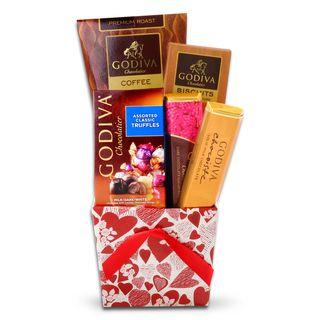 Alder Creek Godiva Valentines Tote Gift Basket