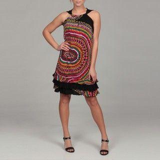 Tiana B Womens Geometric Print Dress