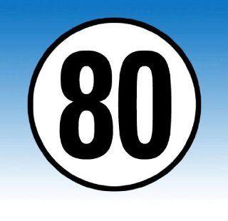 Hinweisschild TEMPO 80 KM/H: Auto
