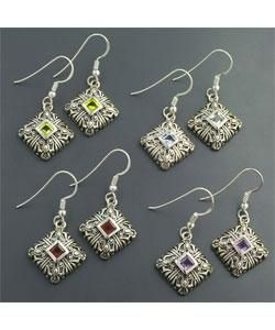 Multi stone Dangling Earrings (India)