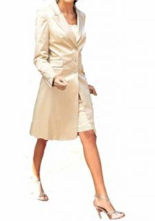 APART Damen Blazer Satin Long Blazer karamell in Größe 32 Satin