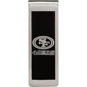 Stainless Steel San Francisco 49ers Logo Money Clip