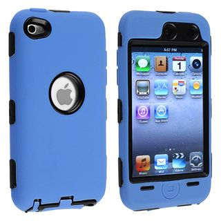 Black/ Blue Hybrid Case for Apple iPod Touch 4th Generation