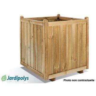 Jardinière Carrée Vendôme 235 litres JARDIPOLYS   Achat / Vente